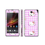Snooky 39812 Digital Print Mobile Skin Sticker For Sony Xperia ZR - Pink