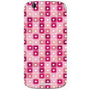 Snooky 40719 Digital Print Mobile Skin Sticker For Micromax Canvas Gold A300 - Pink