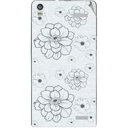 Snooky 40917 Digital Print Mobile Skin Sticker For XOLO A1000S - Grey