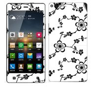 Snooky 41266 Digital Print Mobile Skin Sticker For Gionee Elife E6 - White