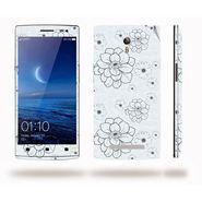 Snooky 41309 Digital Print Mobile Skin Sticker For OPPO Find 7 X9076 - Grey