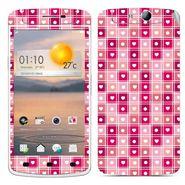 Snooky 41321 Digital Print Mobile Skin Sticker For OPPO N1 Mini - Pink