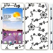 Snooky 41350 Digital Print Mobile Skin Sticker For OPPO R1 R829t - White