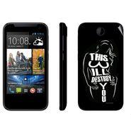 Snooky 41367 Digital Print Mobile Skin Sticker For HTC Desire 310 - Black
