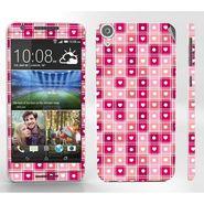 Snooky 41405 Digital Print Mobile Skin Sticker For HTC Desire 820 - Pink