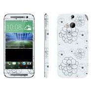 Snooky 41421 Digital Print Mobile Skin Sticker For HTC One M8 - Grey