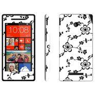 Snooky 41434 Digital Print Mobile Skin Sticker For HTC 8X C620E - White