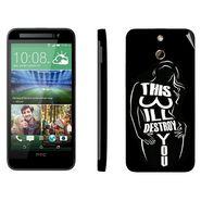 Snooky 41465 Digital Print Mobile Skin Sticker For HTC One E8 - Black