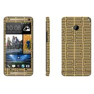 Snooky 41484 Digital Print Mobile Skin Sticker For HTC One M7 - Brown