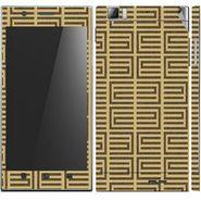 Snooky 41624 Digital Print Mobile Skin Sticker For Lenovo K900 - Brown