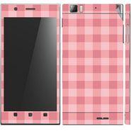 Snooky 41626 Digital Print Mobile Skin Sticker For Lenovo K900 - Pink