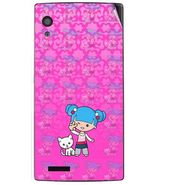 Snooky 41714 Digital Print Mobile Skin Sticker For Lava Iris Fuel 60 - Pink