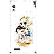 Snooky 41716 Digital Print Mobile Skin Sticker For Lava Iris Fuel 60 - White