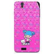 Snooky 41726 Digital Print Mobile Skin Sticker For Lava Iris selfie 50 - Pink