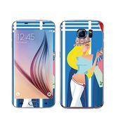Snooky 41849 Digital Print Mobile Skin Sticker For Samsung Galaxy S6 - Blue