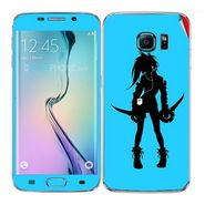 Snooky 41866 Digital Print Mobile Skin Sticker For Samsung Galaxy S6 Edge - Blue
