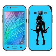 Snooky 41888 Digital Print Mobile Skin Sticker For Samsung Galaxy J1 - Blue