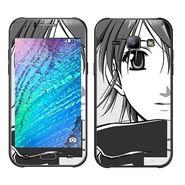 Snooky 41889 Digital Print Mobile Skin Sticker For Samsung Galaxy J1 - Grey