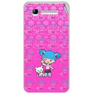 Snooky 41901 Digital Print Mobile Skin Sticker For Intex Aqua 3G - Pink