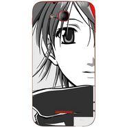 Snooky 41933 Digital Print Mobile Skin Sticker For Intex Aqua Curve - Grey