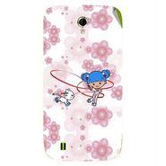 Snooky 42067 Digital Print Mobile Skin Sticker For Intex Aqua N4 - White