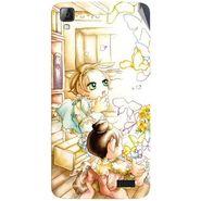 Snooky 42071 Digital Print Mobile Skin Sticker For Intex Aqua N7 - White