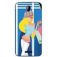 Snooky 42124 Digital Print Mobile Skin Sticker For Intex Aqua Q1 - Blue