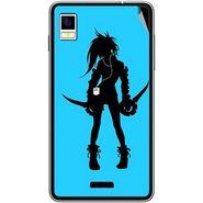 Snooky 42207 Digital Print Mobile Skin Sticker For Intex Aqua Style - Blue