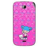 Snooky 42253 Digital Print Mobile Skin Sticker For Intex Aqua Wonder - Pink