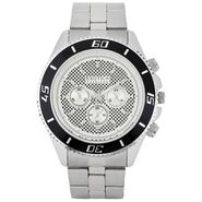 Exotica Fashions Analog Round Dial Watches_E08st7 - Silver & Black