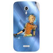 Snooky 46140 Digital Print Mobile Skin Sticker For Micromax Canvas Lite A92 - Blue