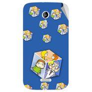 Snooky 46160 Digital Print Mobile Skin Sticker For Micromax Canvas Lite A92 - Blue