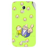 Snooky 46162 Digital Print Mobile Skin Sticker For Micromax Canvas Lite A92 - Green