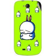 Snooky 46174 Digital Print Mobile Skin Sticker For Micromax Canvas Elanza A93 - Green