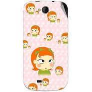 Snooky 46195 Digital Print Mobile Skin Sticker For Micromax Canvas Elanza A93 - Orange