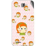 Snooky 46227 Digital Print Mobile Skin Sticker For Micromax Canvas Mad A94 - Orange