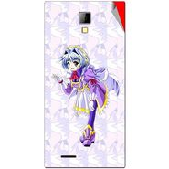 Snooky 46283 Digital Print Mobile Skin Sticker For Micromax Canvas Xpress A99 - Purple