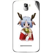 Snooky 46409 Digital Print Mobile Skin Sticker For Micromax Canvas Entice A105 - White