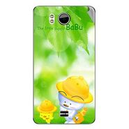 Snooky 46522 Digital Print Mobile Skin Sticker For Micromax Canvas DOODLE A111 - Green