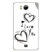 Snooky 46533 Digital Print Mobile Skin Sticker For Micromax Canvas DOODLE A111 - White
