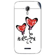 Snooky 46598 Digital Print Mobile Skin Sticker For Micromax Canvas Magnus A117 - White