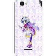 Snooky 46635 Digital Print Mobile Skin Sticker For Micromax Canvas 2 A120 - Purple