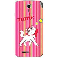 Snooky 46689 Digital Print Mobile Skin Sticker For Micromax Canvas Juice A177 - Pink