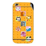 Snooky 46784 Digital Print Mobile Skin Sticker For Micromax Canvas Doodle 2 A240 - Yellow