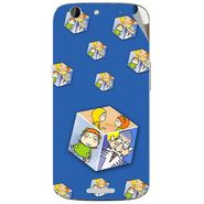Snooky 46864 Digital Print Mobile Skin Sticker For Micromax Canvas A300 - Blue
