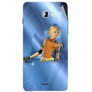 Snooky 46908 Digital Print Mobile Skin Sticker For Micromax Canvas Nitro A311 - Blue