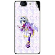 Snooky 46955 Digital Print Mobile Skin Sticker For Micromax Canvas Knight A350 - Purple