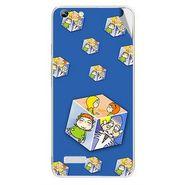 Snooky 46992 Digital Print Mobile Skin Sticker For Micromax Canvas Hue AQ5000 - Blue