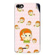 Snooky 47059 Digital Print Mobile Skin Sticker For Micromax Bolt D321 - Orange