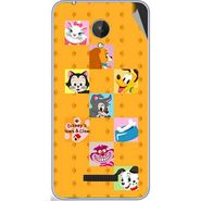 Snooky 47072 Digital Print Mobile Skin Sticker For Micromax Canvas Spark Q380 - Yellow
